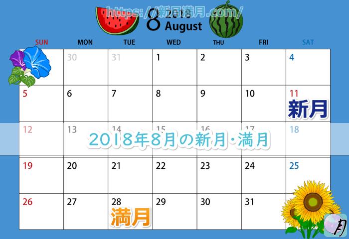 2018年8月の新月・満月