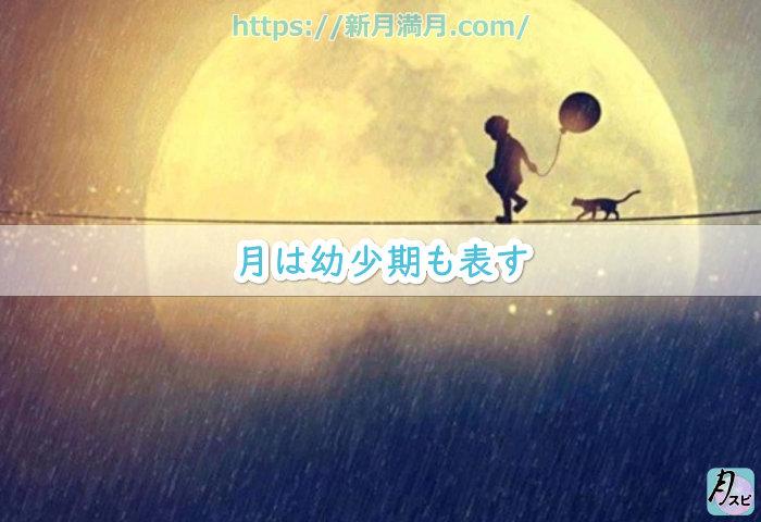 月は幼少期も表す