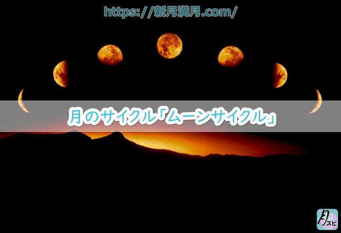 月のサイクル「ムーンサイクル」