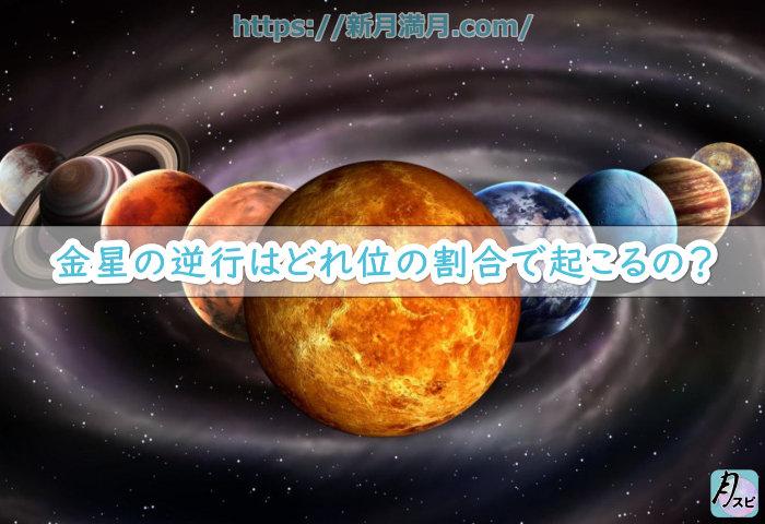 金星の逆行はどれ位の割合で起こるの?