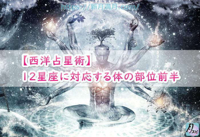 【西洋占星術の各星座と対応する体の部位】12星座に対応する体の部位前半