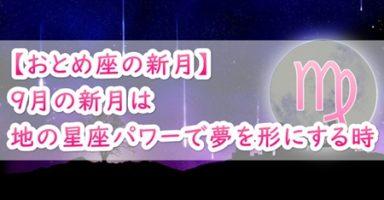【おとめ座の新月】9月の新月は地の星座パワーで夢を形にする時